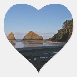Heceta Head, Oregon Heart Sticker