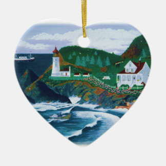 Heceta Lighthouse Christmas Ornament
