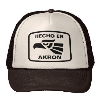 Hecho en Akron personalizado custom personalized Mesh Hats