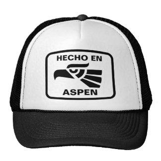 Hecho en Aspen personalizado custom personalized Cap