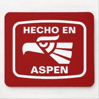 Hecho en Aspen personalizado custom personalized Mouse Pads