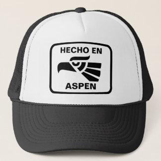 Hecho en Aspen personalizado custom personalized Trucker Hat