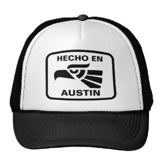 Hecho en Austin personalizado custom personalized Mesh Hats