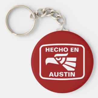 Hecho en Austin personalizado custom personalized Key Chain
