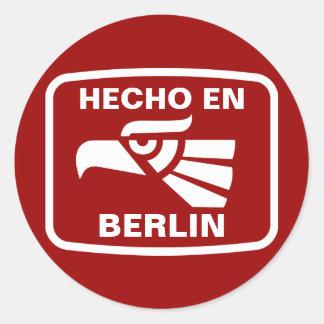 Hecho en Berlin personalizado custom personalized Stickers