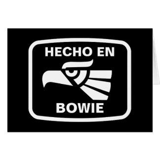 Hecho en Bowie personalizado custom personalized Greeting Card
