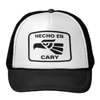 Hecho en Cary personalizado custom personalized Hat