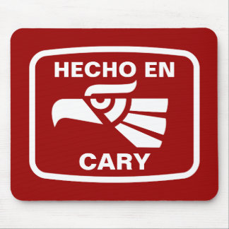 Hecho en Cary personalizado custom personalized Mouse Mats