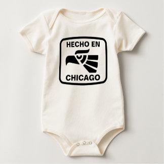 Hecho en Chicago personalizado custom personalized Baby Bodysuit