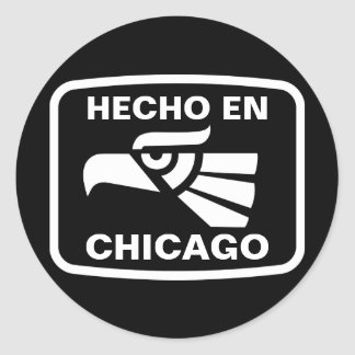 Hecho en Chicago personalizado custom personalized Classic Round Sticker