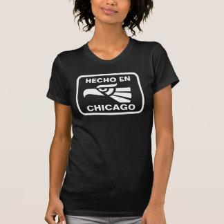 Hecho en Chicago personalizado custom personalized Tee Shirts