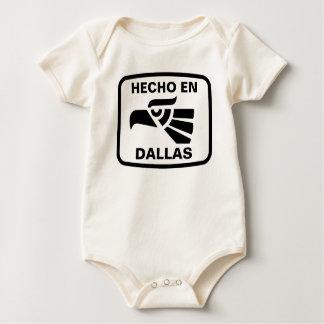 Hecho en Dallas personalizado custom personalised Bodysuits