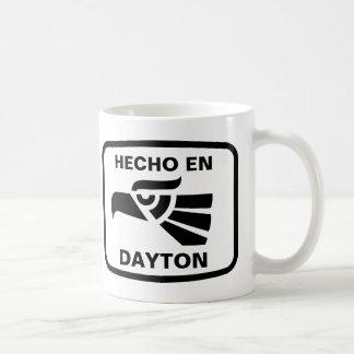 Hecho en Dayton personalizado custom personalized Basic White Mug