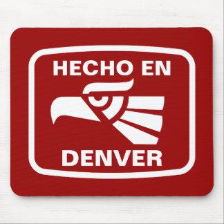 Hecho en Denver personalizado custom personalized Mouse Pads