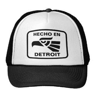 Hecho en Detroit personalizado custom personalized Mesh Hats