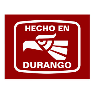 Hecho en Durango personalizado custom personalized Postcard