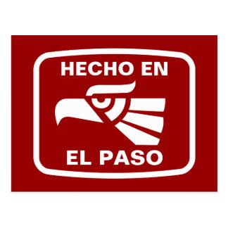 Hecho en El Paso personalizado custom personalised Postcard