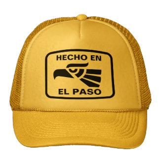 Hecho en El Paso personalizado custom personalized Mesh Hat