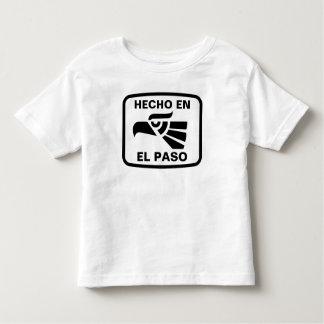 Hecho en El Paso personalizado custom personalized Toddler T-Shirt