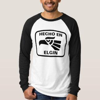 Hecho en Elgin personalizado custom personalized Tee Shirt