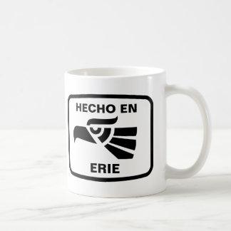 Hecho en Erie personalizado custom personalised Basic White Mug