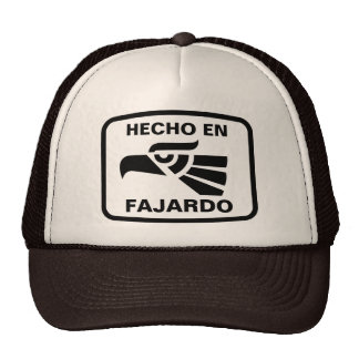 Hecho en Fajardo personalizado custom personalized Mesh Hats