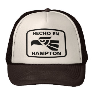 Hecho en Hampton personalizado custom personalized Trucker Hat