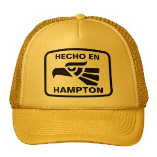 Hecho en Hampton personalizado custom personalized Hats