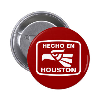 Hecho en Houston personalizado custom personalized 6 Cm Round Badge