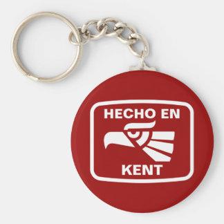 Hecho en Kent personalizado custom personalized Keychain