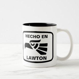 Hecho en Lawton personalizado custom personalized Two-Tone Mug
