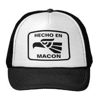 Hecho en Macon personalizado custom personalized Trucker Hats