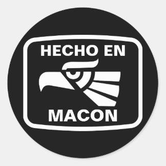 Hecho en Macon personalizado custom personalized Sticker