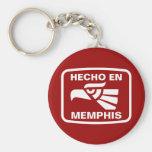 Hecho en Memphis personalizado custom personalised Basic Round Button Key Ring