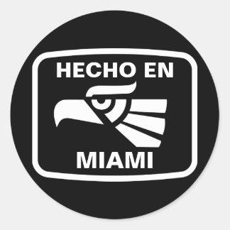 Hecho en Miami personalizado custom personalized Classic Round Sticker