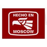 Hecho en Moscow personalizado custom personalised Greeting Cards