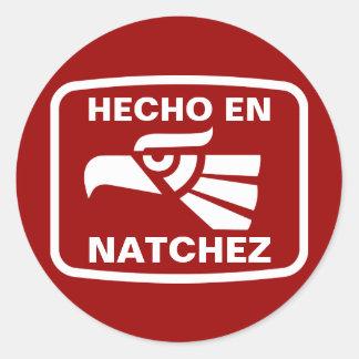 Hecho en Natchez personalizado custom personalized Stickers
