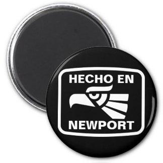 Hecho en Newport personalizado custom personalized 6 Cm Round Magnet