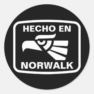 Hecho en Norwalk personalizado custom personalized Round Stickers