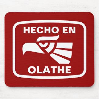 Hecho en Olathe personalizado custom personalized Mouse Mat