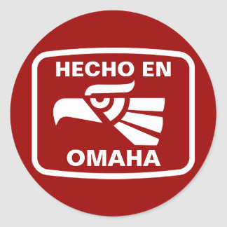 Hecho en Omaha personalizado custom personalized Stickers