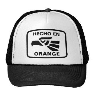 Hecho en Orange personalizado custom personalized Trucker Hats