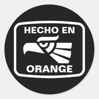 Hecho en Orange personalizado custom personalized Round Stickers