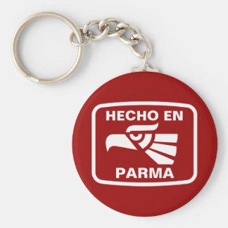Hecho en Parma personalizado custom personalized Key Chain