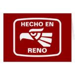 Hecho en Reno personalizado custom personalised Greeting Cards