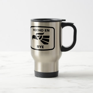 Hecho en Rye personalizado custom personalised Stainless Steel Travel Mug