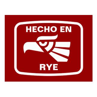 Hecho en Rye personalizado custom personalised Postcard