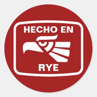 Hecho en Rye personalizado custom personalized Round Sticker