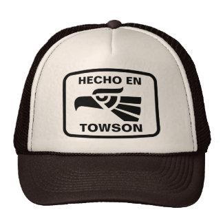 Hecho en Towson personalizado custom personalized Hats
