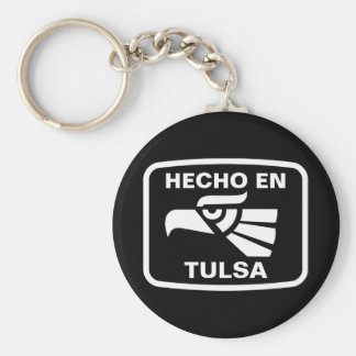 Hecho en Tulsa  personalizado custom personalized Keychains